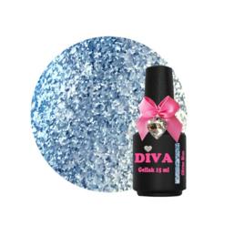 Diva Gellak Glitter Blue