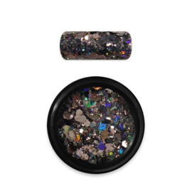 Moyra Rainbow Holo Glitter Mix 10. Black