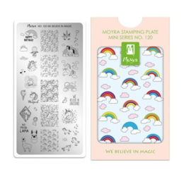 Moyra Mini Stamping plaat 120 We Believe In Magic