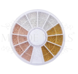 Wiel Rosé, Gold & Silver Nail beads