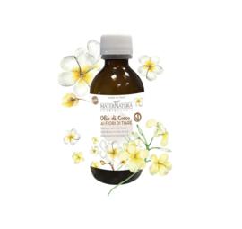 Coconut oil with tiare flowers | MaterNatura