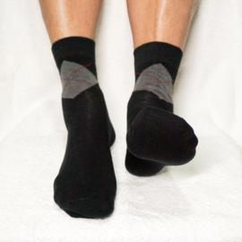 Gel Klassieke Heren Sok met Hielbescherming – zwart geruit | Pedisil
