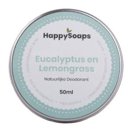 Natuurlijke Deodorant – Eucalyptus en Lemongrass 50 g | HappySoaps