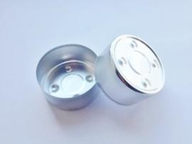 Theelicht / Waxinecup - aluminium - zilver