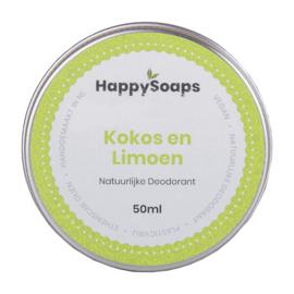 Natuurlijke Deodorant – Kokos en Limoen 50 g | HappySoaps