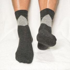 Gel Klassieke Heren Sok met Hielbescherming – Antraciet | Pedisil