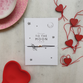 Armband To the moon and back(verpakt per 4)