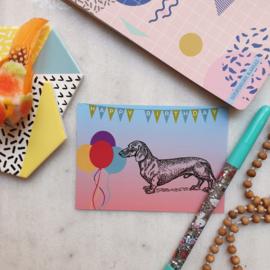 Teckel Birthday (verpakt per 10)
