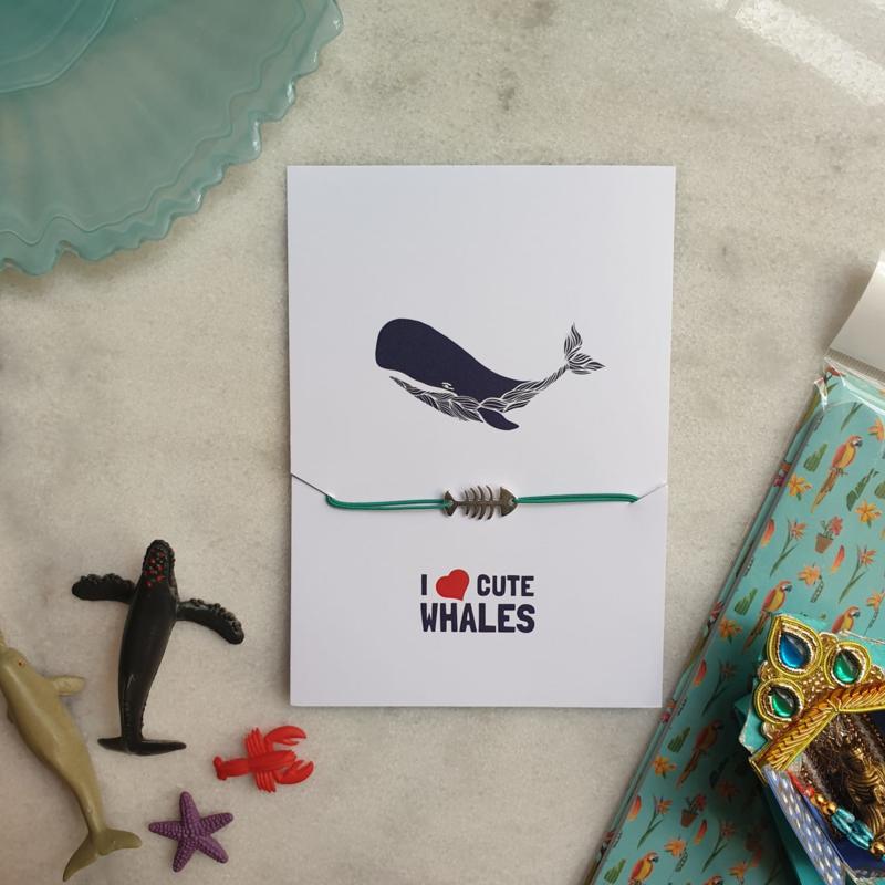 I love Whales (verpakt per 4)