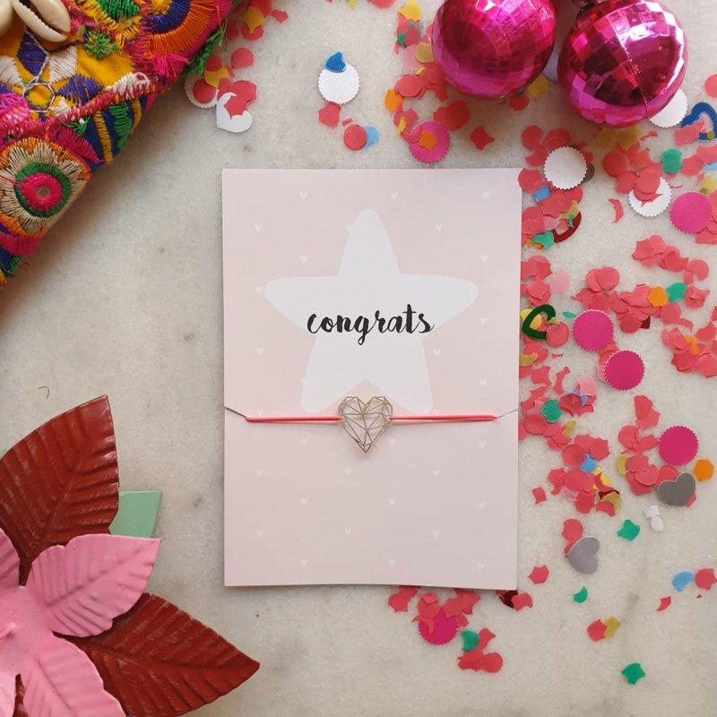 Congrats pink (verpakt per 4)