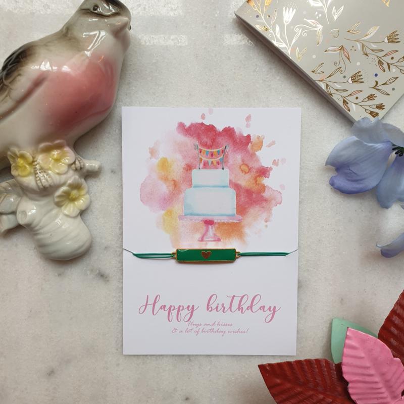 Armband Happy Birthday (verpakt per 4)