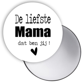 Spiegeltje Mama wit ( PER STUK )