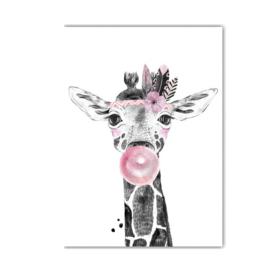 A4 poster Lieve giraffe ( PER 2 STUKS )