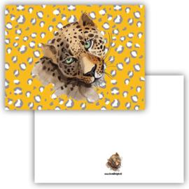 Kaart Leopard oker ( PER 5 STUKS )