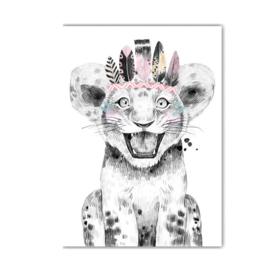 A4 poster Lieve leeuw ( PER 2 STUKS )