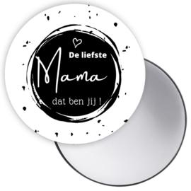 Spiegeltje De liefste Mama zwart ( PER STUK )
