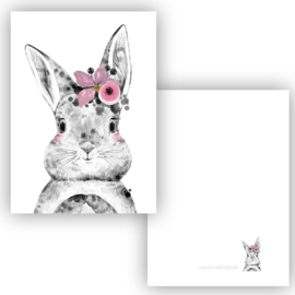 Lieve konijn meisje ( PER 5 STUKS )