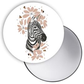 Spiegeltje Jungle zebra hoofd ( PER STUK )