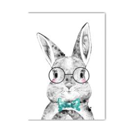 A4 poster Lieve konijn jongen ( PER 2 STUKS )