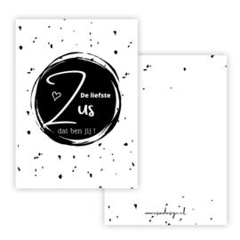 Mini kaart ZUS zwart  ( PER 5 STUKS )