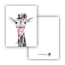 Lieve giraffe ( PER 5 STUKS )