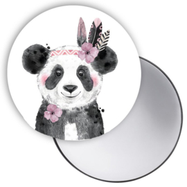 Spiegeltje Lieve Panda roze ( PER STUK )