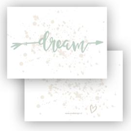 Kaart Dream groen ( PER 5 STUKS )