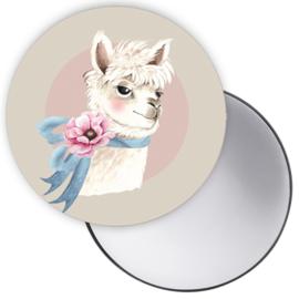 Spiegeltje Alpaca crème ( PER STUK )