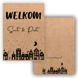 Welkom Sint & Piet ... Kraftkarton ( PER 5 STUKS )