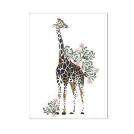 A4 poster Jungle giraffe ( PER 2 STUKS )