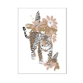 A4 poster Jungle luipaard ( PER 2 STUKS )