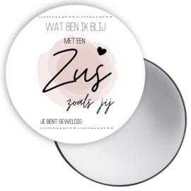 Spiegeltje Zus roze ( PER STUK )
