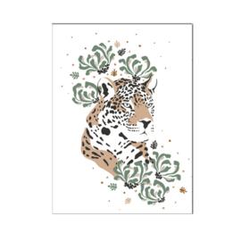 A4 poster Jungle luipaard hoofd ( PER 2 STUKS )