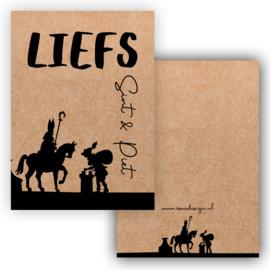 Liefs Sinterklaas & Piet ... Kraftkarton ( PER 5 STUKS )