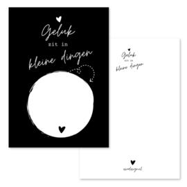 Kaart zonder geluks popje zwart ( PER 5 STUKS )
