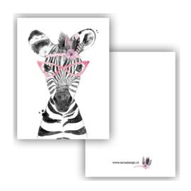 Lieve Zebra ( PER 5 STUKS )