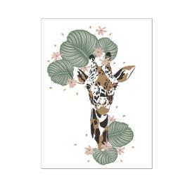 A4 poster Jungle giraffe hoofd ( PER 2 STUKS )