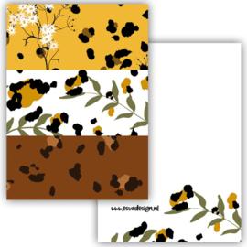 Kaart Leopard flower ( PER 5 STUKS )