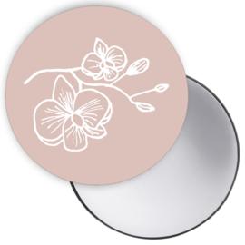 Spiegeltje Orchidee roze ( PER STUK )