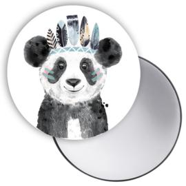 Spiegeltje Lieve Panda blauw ( PER STUK )