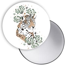 Spiegeltje Jungle luipaard hoofd ( PER STUK )