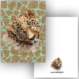 Kaart Leopard green ( PER 5 STUKS )