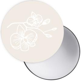 Spiegeltje Orchidee creme ( PER STUK )