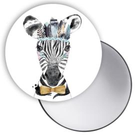 Spiegeltje Lieve Zebra blauw ( PER STUK )