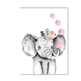 A4 poster Lieve olifant ( PER 2 STUKS )