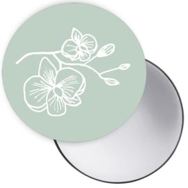 Spiegeltje Orchidee groen ( PER STUK )