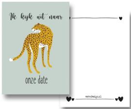 Kaart Leopard groen trots ( PER 5 STUKS )