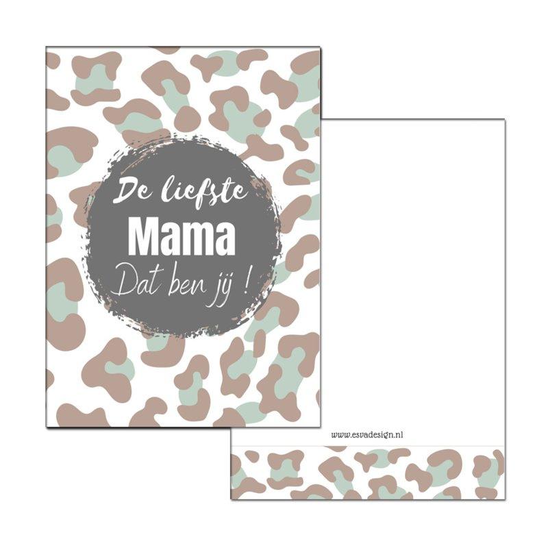 De liefste MAMA groen ( PER 5 STUKS )