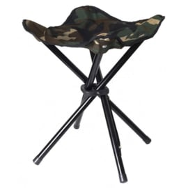 Collapsible Stool 4 Legs, 100% polyester, STEALTH GEAR