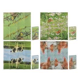 Papieren zakdoekjes met natuurprint
